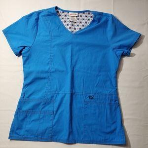 2/$20 Scrubstar Blue Scrub Uniform Top Size XS